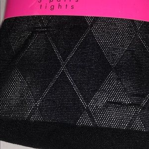 Betsey Johnson Accessories - BETSEY JOHNSON black tights 3 pair pack new M/L